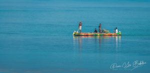 Tsifota, Madagascar, June 09, 2017: Fishing scene of Malagasy fishermen of the Vezo ethnic group in the Ambatomilo lagoon in southwestern Madagascar