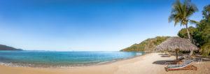 Panorama de plage à Nosy Be, Madagascar