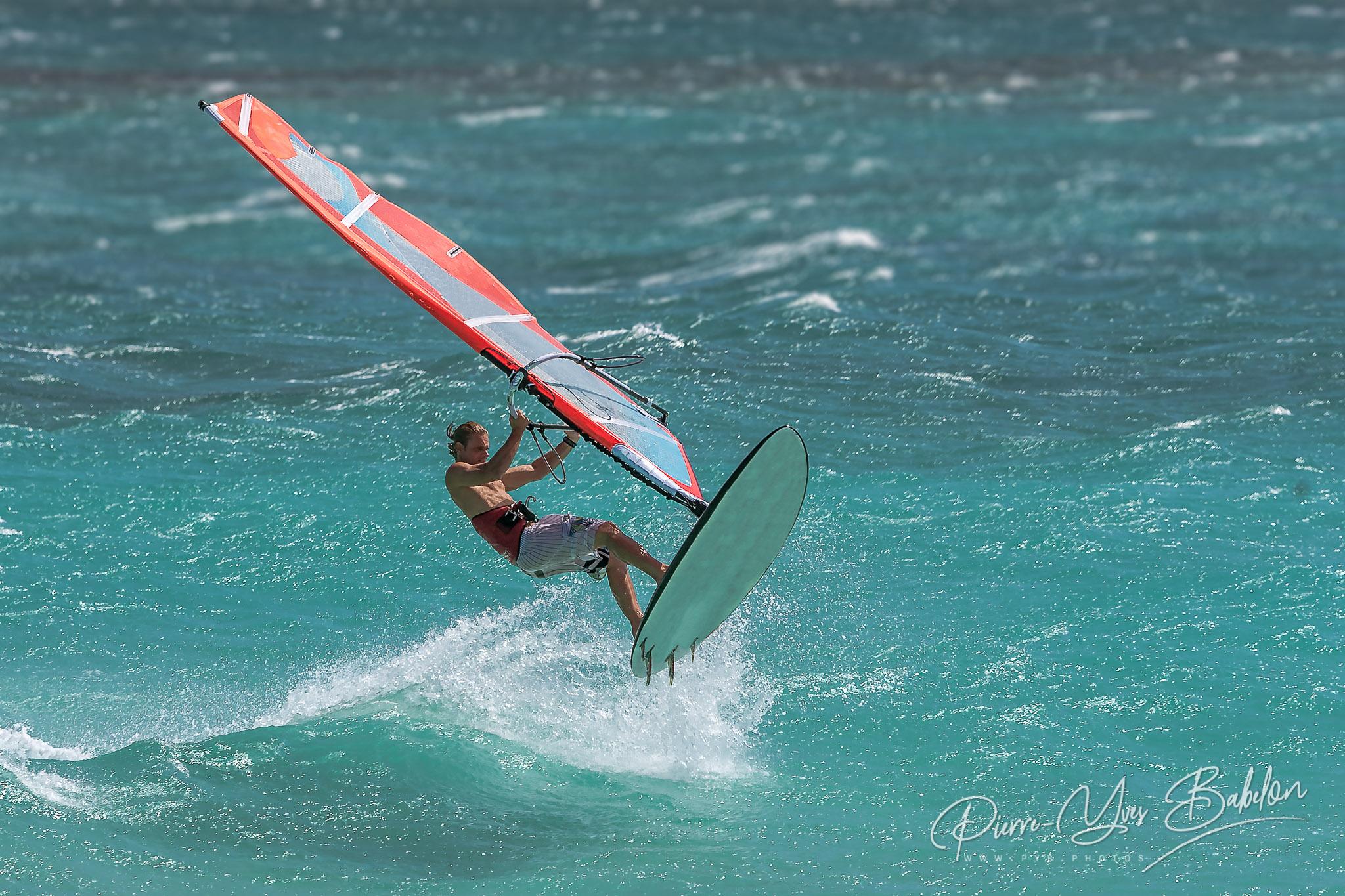 Professional windsurfer