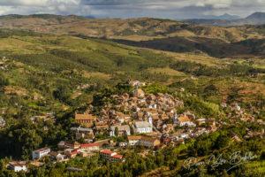 La haute ville de Fianarantsoa, hautes terres de Madagascar