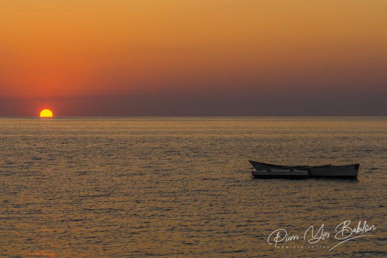 Coucher de soleil sur la plage Ifaty