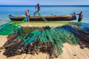 Scène de pêche, Ifaty, Madagascar