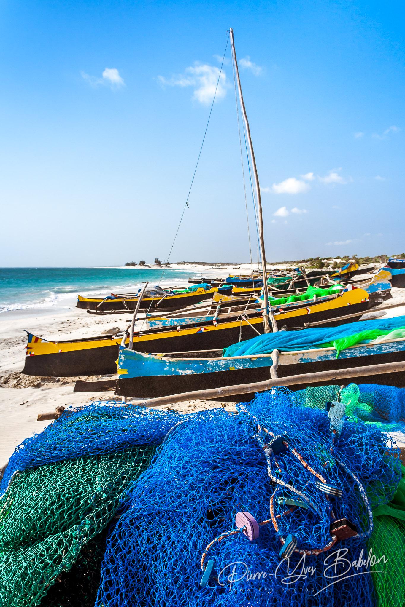 Malagasy fishing canoes