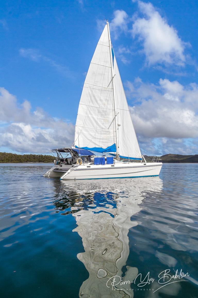 Catamaran de luxe en croisière