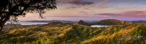 Coucher de soleil sur l'île de Nosy Be et le lac sacré, au nord de Madagascar