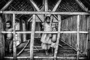 Enfants malgaches du canal des Pangalanes, Madagascar
