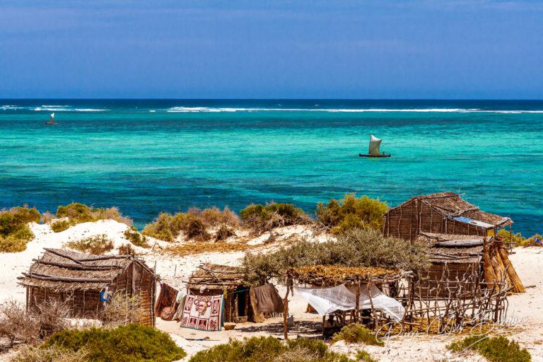 Village de pêcheurs, Tsifota, Madagascar