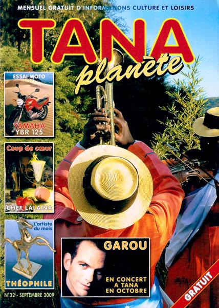 Une de Tana Planète de Septembre 2009