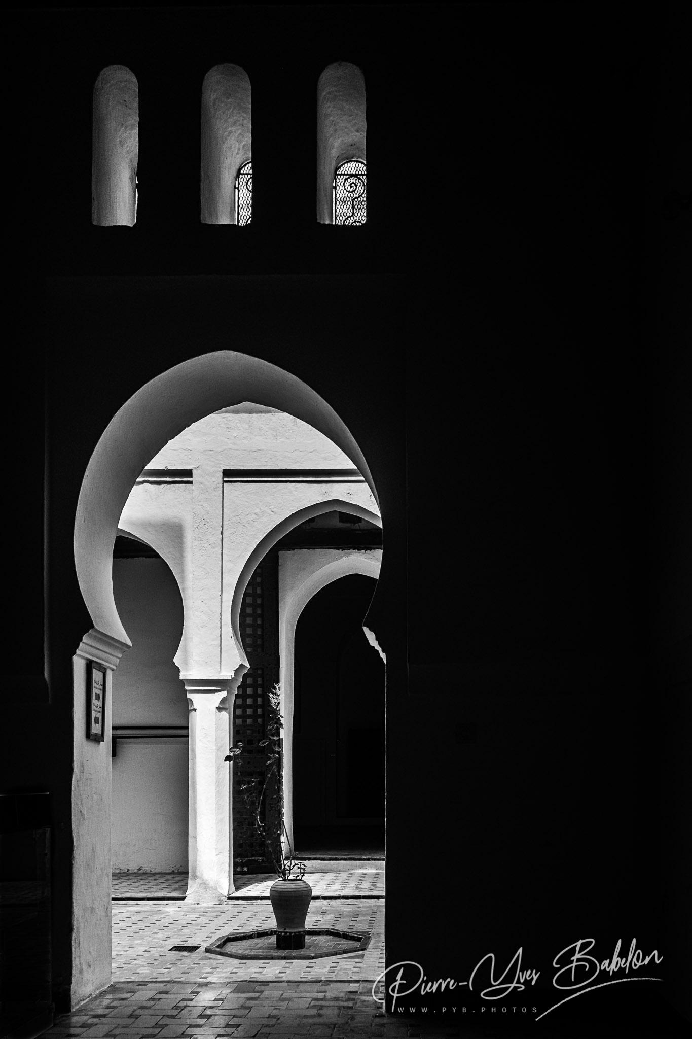 Couloirs du Musée de la Kasbah à Tanger, Maroc