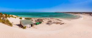 Vue panoramique d'un village de pêcheurs Vezo dans l'ouest de Madagascar
