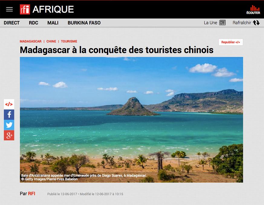 RFI Afrique article sur Madagascar