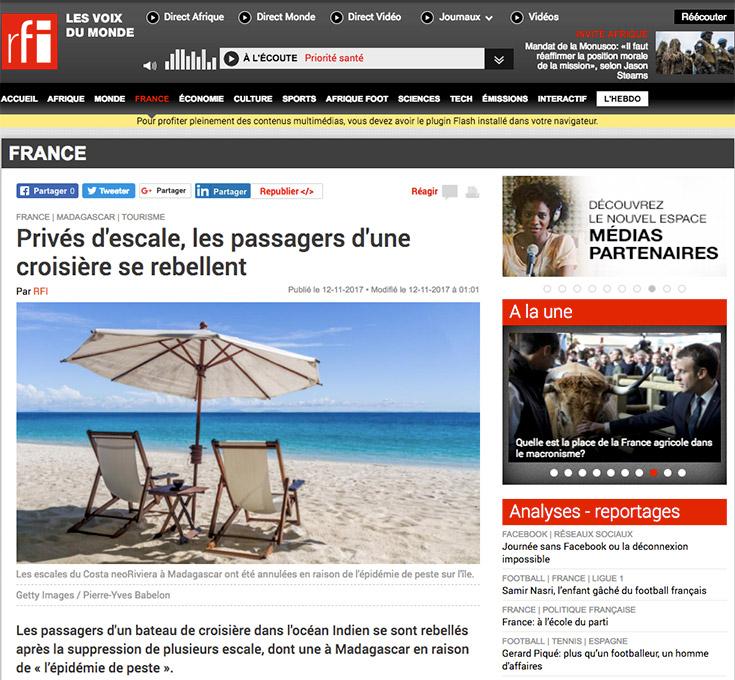 RFI article sur Madagascar