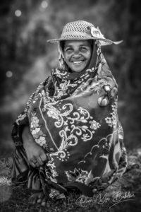 Femme malgache Betsileo près de Fianarantsoa, hauts plateaux de Madagascar