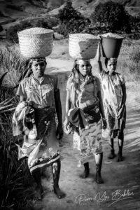 Femmes malgaches Bara de l'Andringitra, Madagascar