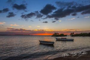 Coucher de soleil sur la baie de Diego Suarez au nord de Madagascar