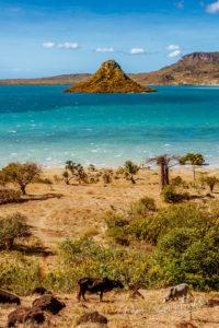 Vue sur la baie d'Antsiranana (Diego Suarez), nord de Madagascar