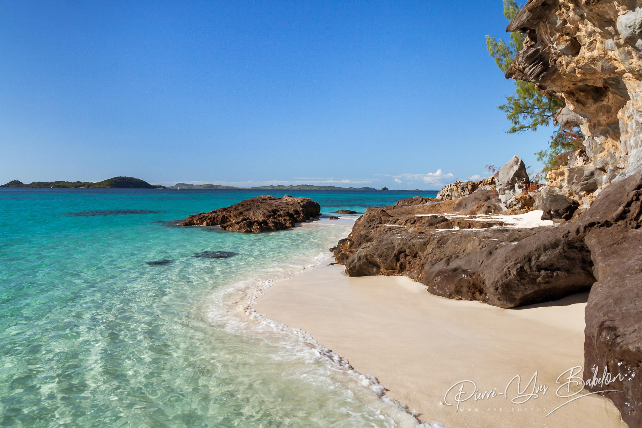 Small rocky beach