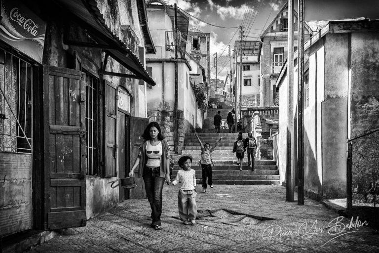 Les ruelles d'Antananarivo, Madagascar