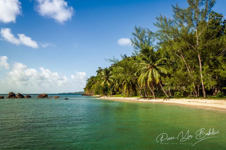 Paysage tropical de l'île Sainte-Marie, Madagascar