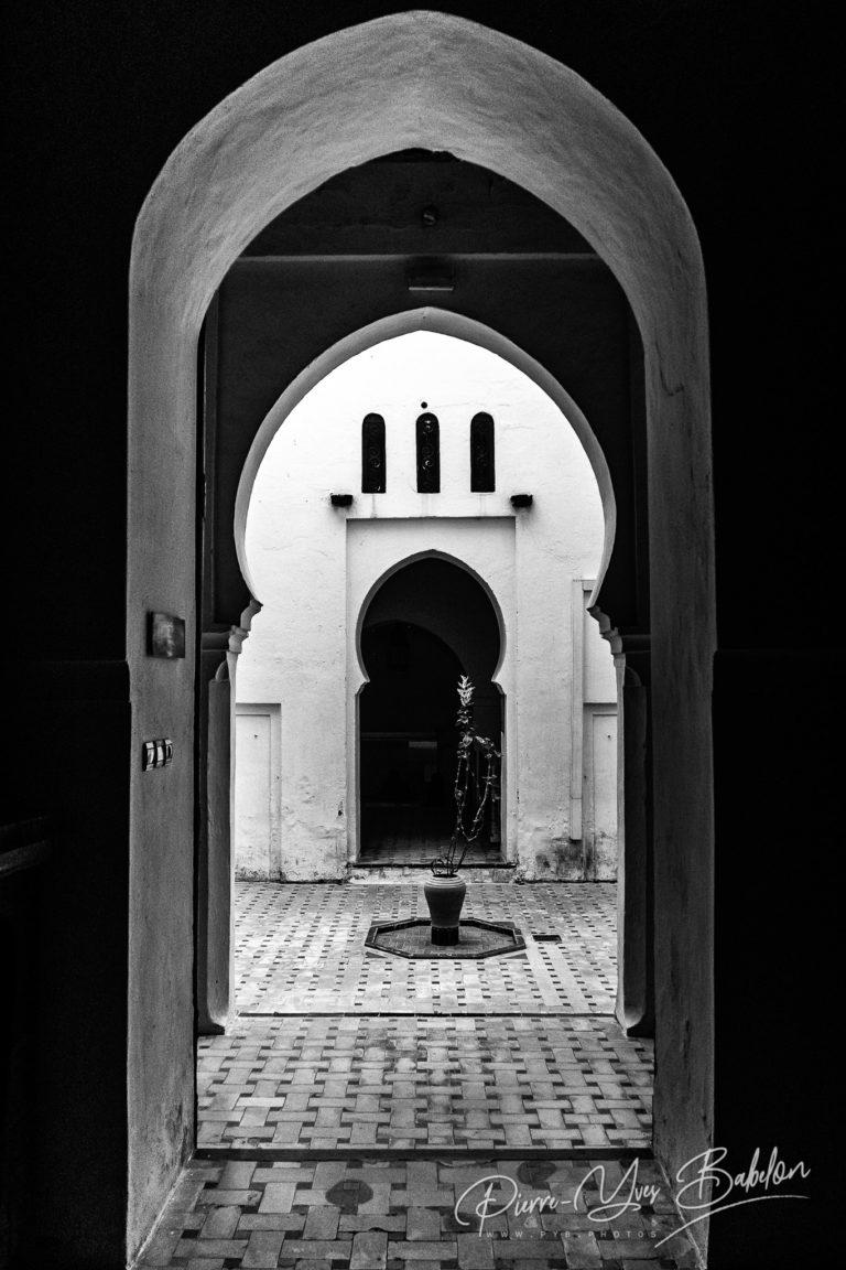 Couloirs du Musée de la Casbah à Tanger, Maroc
