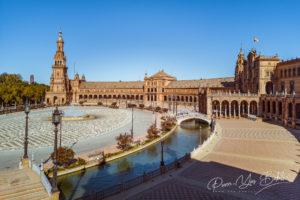 Plaza de Espana à Séville, Espagne