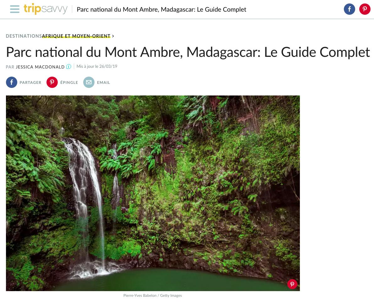 Parc National de la Montagne d'Ambre, Madagascar, photo Pierre-Yves Babelon