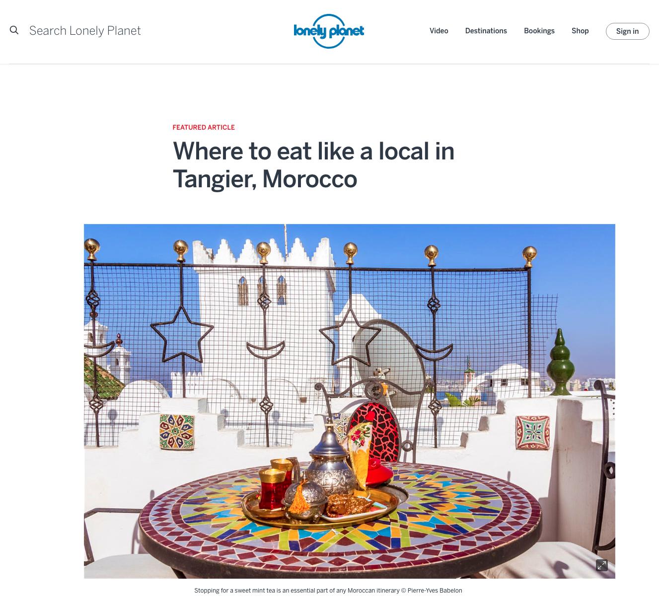 Lonely Planet Maroc - Photo Pierre-Yves Babelon