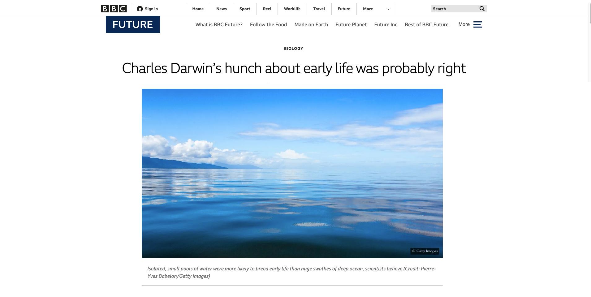 BBC Future - L'intuition de Charles Darwin au sujet de la jeunesse était probablement juste